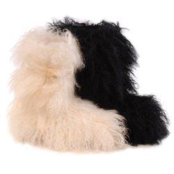bottes en mouton de mongolie pour femmes