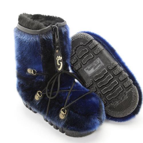 botte-fourrure-loup-marin-bleu