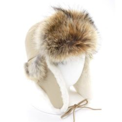 aviator hat chapeau enfant-aviateur-coyote-fourrure