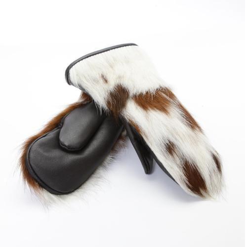 winter mittens Mitaines d'hiver en fourrure de vache naturelle pour enfant