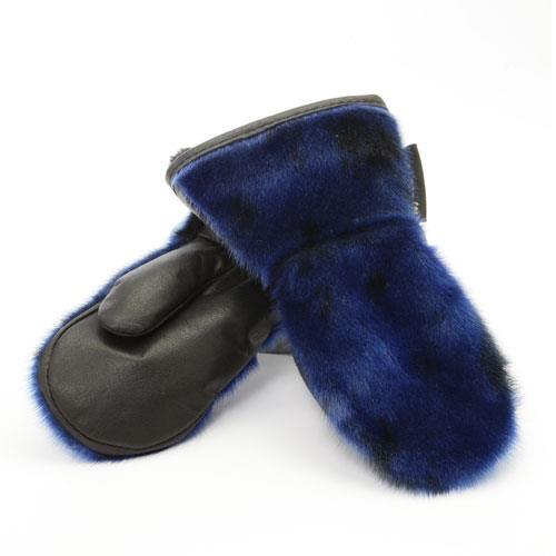winter mittens mitaines d'hiver en loup marin bleu enfant
