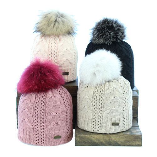 69b22d02c39 Pom Pom Fur Winter Hats for Women Made in Canada ALICE