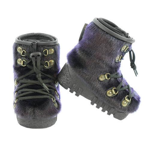 baby winter boots purple sealskin