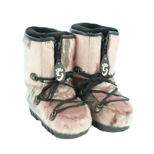 b109a66b65de Kids Snow Boots in Pink Seal skin