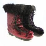 bottes style mocassin en loup marin