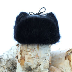 black beaver hat trapper