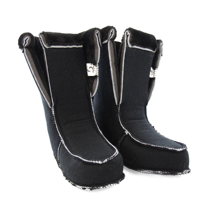 chausson replié pour bottes de poil - folded boot liners