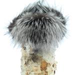 chapeau en fourrure de renard argente