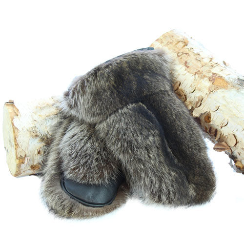 warm mittens natural raccoon deluxe