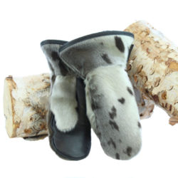 seal skin mittens natural deluxe