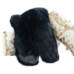 black otter snow mittens deluxe