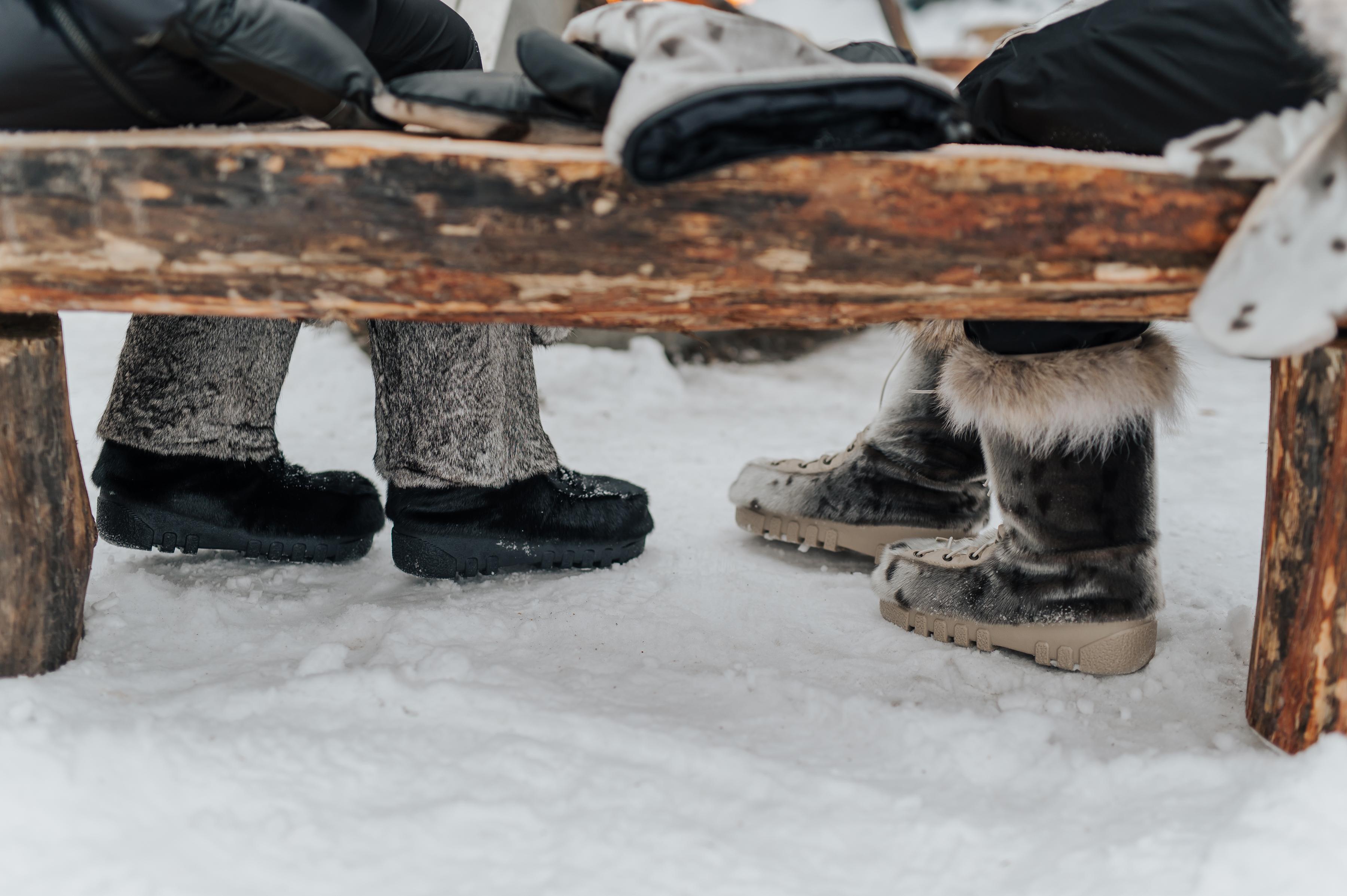 Avoir les pieds au chaud
