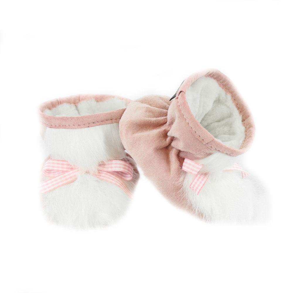 bottine-bebe-fille-mouton-lapin-rose