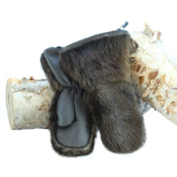 snowmobile mittens natural beaver