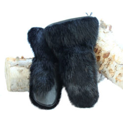 black beaver deluxe snowmobile mittens