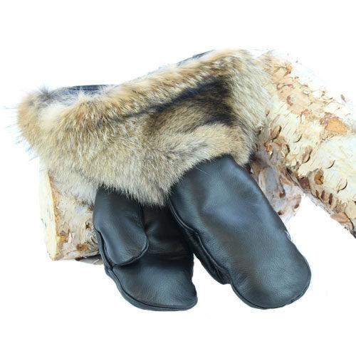 mitaine cuir poignet coyote duo