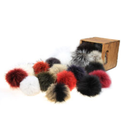 removable fur pom pom