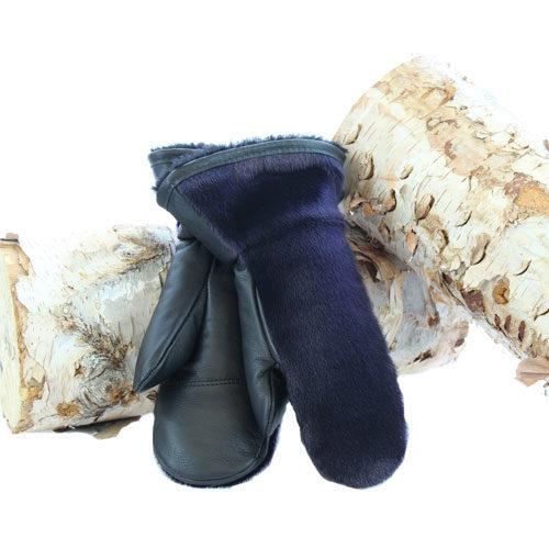 purple seal-skin mittens