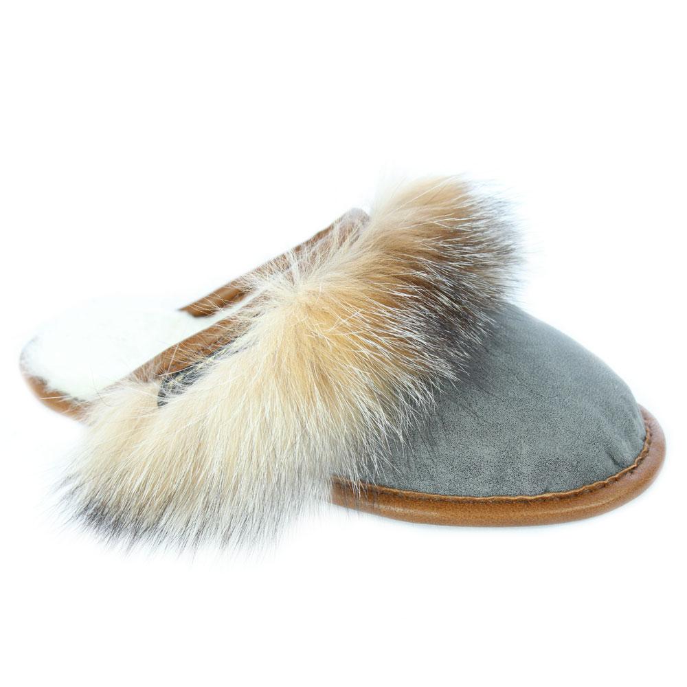 07fd9c0b7 Women's Crystal Fox Mule Slipper