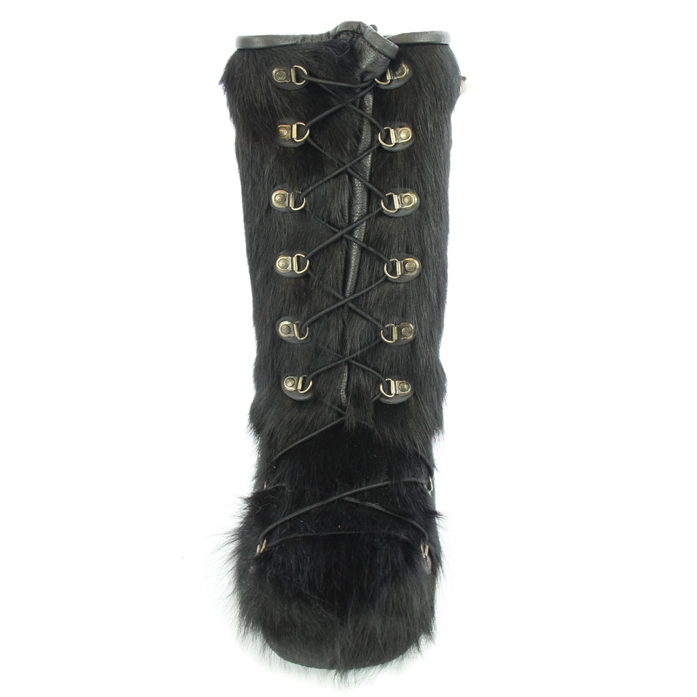 d99e1c91994 Cow Skin Long Lace Up Rebelle Boots
