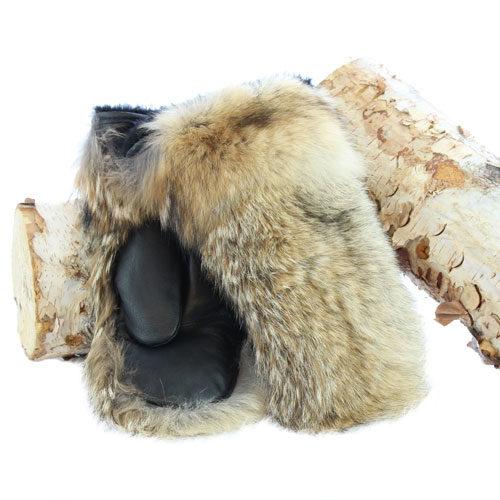 mitaine fourrure de coyote