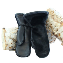 black seal skin mittens outdoor