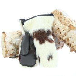 mitaines en fourrure de vache