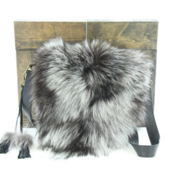 jeanne bag black leather & silver fox