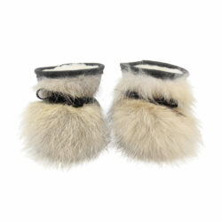 baby first shoes coyote fur