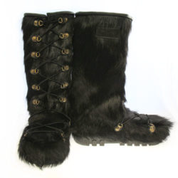 cow skin rebelle fur boots