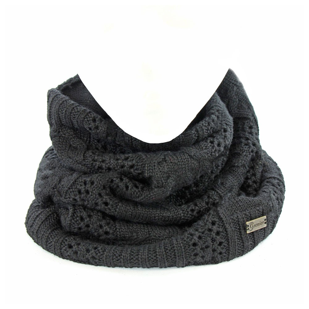 cache cou noir alice neck warmer