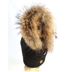 chapeau de fourrure style capuchon