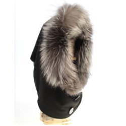 button Silver fox hood