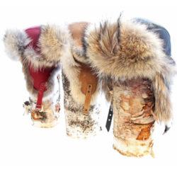 chapeau en fourrure aviateur coyote