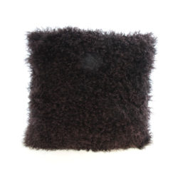 18 brown sheep wool cushion