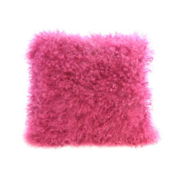 14 fuchsia sheep wool cushion