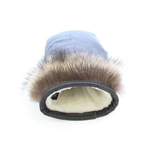 mitaines chaudes en fourrure de raton laveur poignet