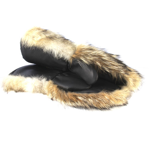 winter mittens coyote snowmobile